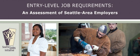New Report: Entry-Level Job Requirements Employer Survey + Webinar 2/28/13!